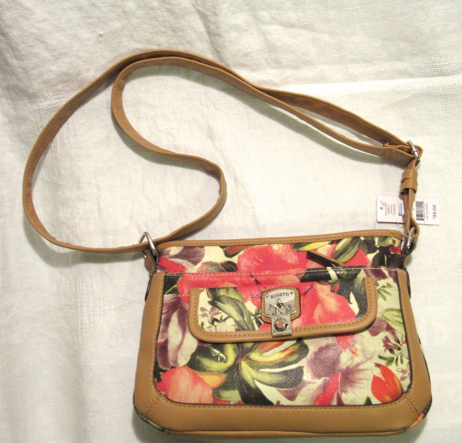 Rosetti Lana Havana Floral Cross Body Faux Leather