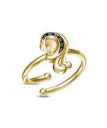 Buy Hot Sale Yellow Gold Plated RD Sim Diamond Virgo Zodiac Sign Adjusta... - £8.08 GBP