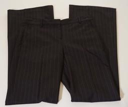 Theory Adelson Womens Wool Grey Charcoal Pinstripe Flare Dress Pants 2 x 35 - $79.99