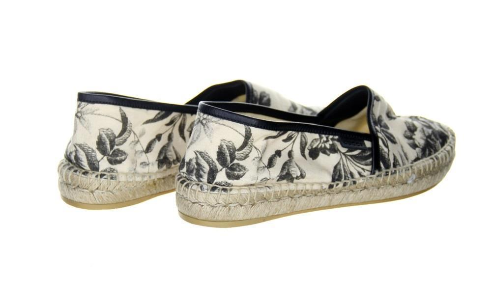 a29383dd43a ... Gucci Pilar Printed Canvas Espadrille Shoes Flats Nero Size 38 (US 8)  Pre Owned ...