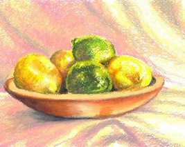 "Akimova: LEMONS, approx. size 8""x10"", food - $10.00"