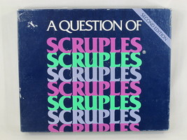 A Question of Scruples 1986 Second 2nd Edition Board Game 100% Complete - $16.71