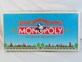 Monopoly Deluxe 50th Anniversary Edition 1985 Parker Brothers Excellent ... - $23.64