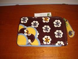 Vera Bradley Slate Blooms Frill Petal Pouch Coin Purse - $24.49