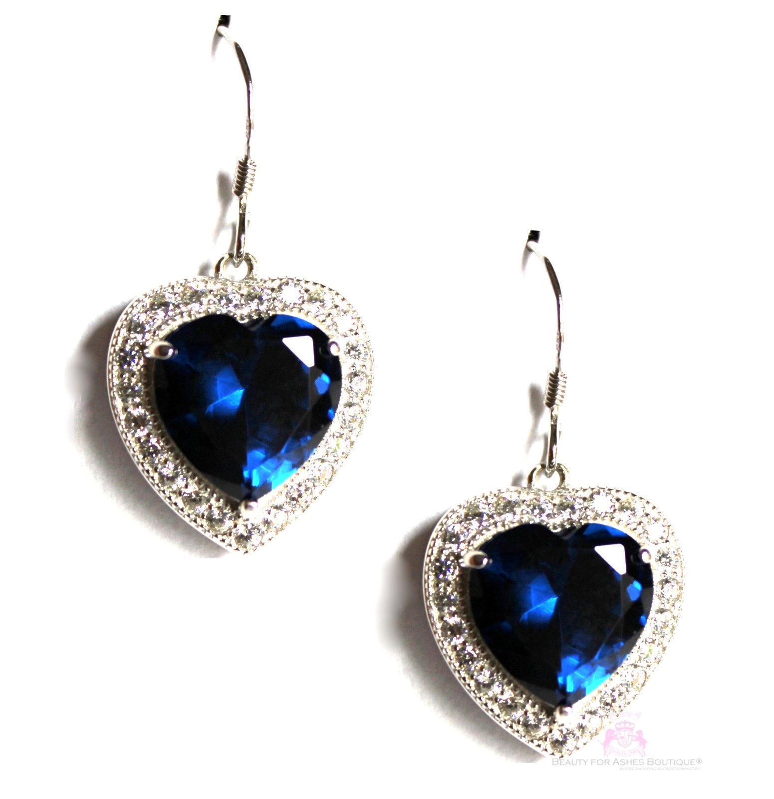 for jerusalem sapphire blue cz 925 sterling