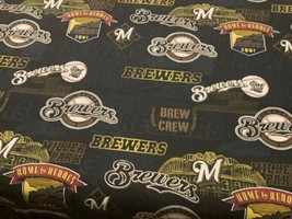Baseball Milwaukee Brewers 100% high quality cotton quilt fabric 1/4 yd ... - $5.90