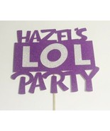 Personalised Cake Topper Sparkly LOL Party Theme. Any Name Pink Or Purple - $5.78