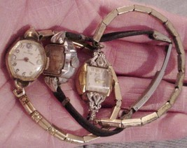 3 ladies wrist watches Helbros Milos Westfield by Bulova Watches for parts - $47.95