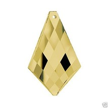 "Swarovski Crystal 2"" Golden Teak Prism Pendant Chandelier Parts Party Decoration - $15.50"