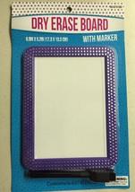Magnetic School Locker Dry Erase Board Purple Bling Rhinestones Supplies - $9.99