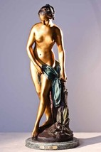 "28""H Nude Girl AKA ""TheBather"" Lost Wax Bronze Statue Sculpture by Falconet - $1,900.00"