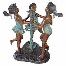 """Fun in the Sun Girls"" Lost Wax Cast Bronze Garden Statue / Fountain - $4,995.00"