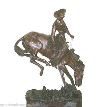 """""""Outlaw"""" Solid Bronze Collectible Sculpture Statue by F. Remington Monum... - $5,500.00"""