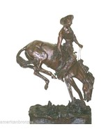 """""""Outlaw"""" Pure Bronze Collectible Sculpture Statue by F. Remington Monume... - $6,500.00"""