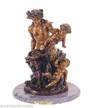 Female Satyr Group Solid Lost Wax Bronze Statue by Clodion - $1,723.80