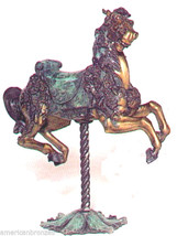 Carousel Horse Solid Bronze Collectible Sculpture Statue by Carmel - Mon... - $4,500.00