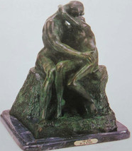 """22H"""" """"The Kiss"""" Solid Bronze Most Accurate Rodin Reproduction Statue Scu... - $2,517.49"""