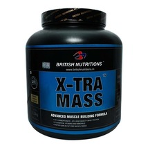 British Nutritions X-Tra Mass, Chocolate 5.5 lb - $129.00