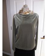 Karen Kane Green Velour Look Top - $16.89