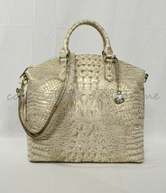 Brahmin Large Duxbury Leather Satchel/Shoulder Bag Sugar Cane Melbourne - $269.00
