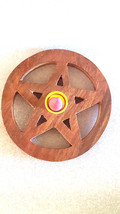 large round pentagram sign insence holder ideal for cones  these are made to ord
