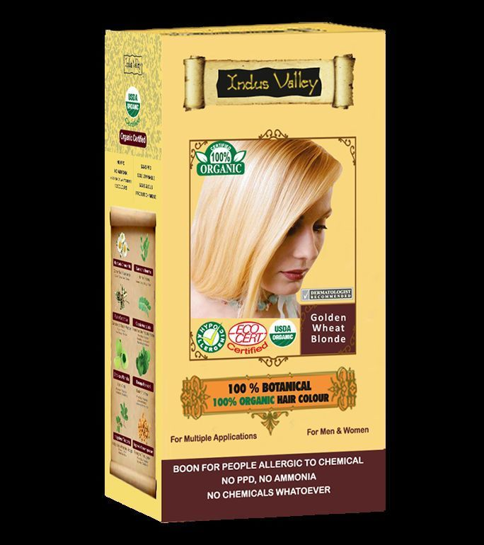 100% Botanical & Organic Golden Wheat Blonde Hair Color USDA & Ecocert Certified