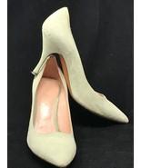 "PALTER DeLISO Women Pumps Green Suede Pointed Toe 3.5"" High Heel Sz 38 E... - $35.59"