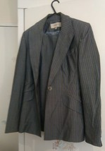 Ladies/ woman Karen Millen Grey Strip Fitted trouser and Suit Size 12. - $13.41