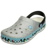 Crocs Crocband Penguins Clog Mule Sandal silver men shoes 203607-159 SIZ... - $59.39