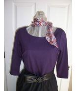 New York & Company Purple Top - $16.89