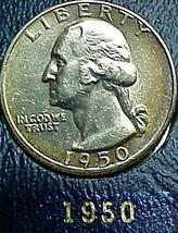 Washington Quarter 1950 AU - $13.04