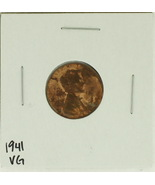 1941 United States Lincoln Wheat Penny Rating (VG) Very Good - $0.10