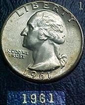 Washington Quarter 1961 AU - $8.04