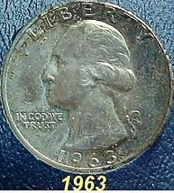 Washington Quarter 1963 EF - $8.04