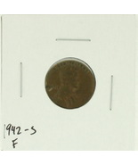 1942-S United States Lincoln Wheat Penny Rating (F) Fine - $0.30