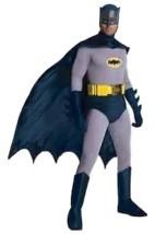 Retro Batman Costume Men Classic Halloween Dress Up Jumpsuit Briefs Belt... - £106.56 GBP