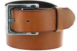 Mens One Piece Vintage Full Grain Heavy Duty Leather With Antique Silver Fini... - $24.74