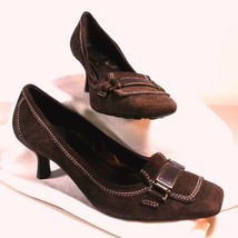 Cole Haan Women's Brown Kitten Heel Pumps WIth Accent Buckles Size 8AA - $24.99