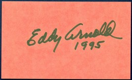 Eddy Arnold Autograph 3x5 Card Hand-Signed Country Music Star.  NOT A  R... - $11.99