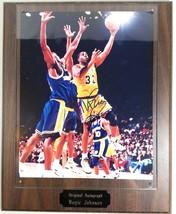 Magic Johnson LA Lakers Signed 8x10 Photograph Autograph on Wood Plaque - $99.00