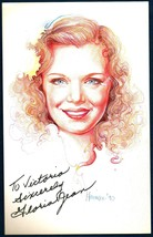 GLORIA JEAN Autographed Drawing - Bob Harman's Enchanted Faces. Signed T... - $19.99