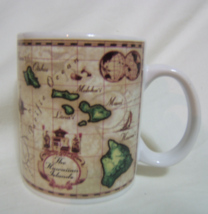 Hawaiian Islands Map Ceramic Mug Ron Croci Artwork 8 oz - $15.95
