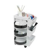 Swivel Organizer Cart Space Saver Storage Shelves Store Organize Supplie... - $256.43