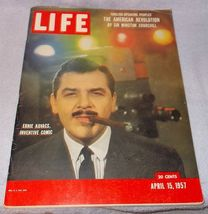 Life Magazine April 1957 Ernie Kovacs Audrey Hepburn Edouard Herriot Churchill - $7.95