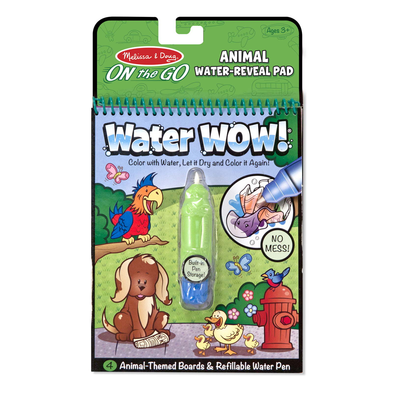 Primary image for Melissa & Doug On the Go Water Wow! Animals Reusable Water-Reveal Activity Pad,