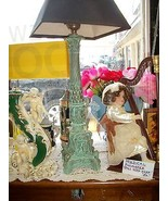 LOVELY FIGURAL ANTIQUE LAMP - $65.00