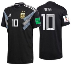 ADIDAS LIONEL MESSI ARGENTINA AWAY JERSEY FIFA WORLD CUP 2018 PATCHES. - £130.79 GBP