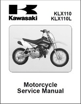 2010-2014 Kawasaki KLX110 / KLX110L Service Repair Workshop Manual CD - ... - $12.00