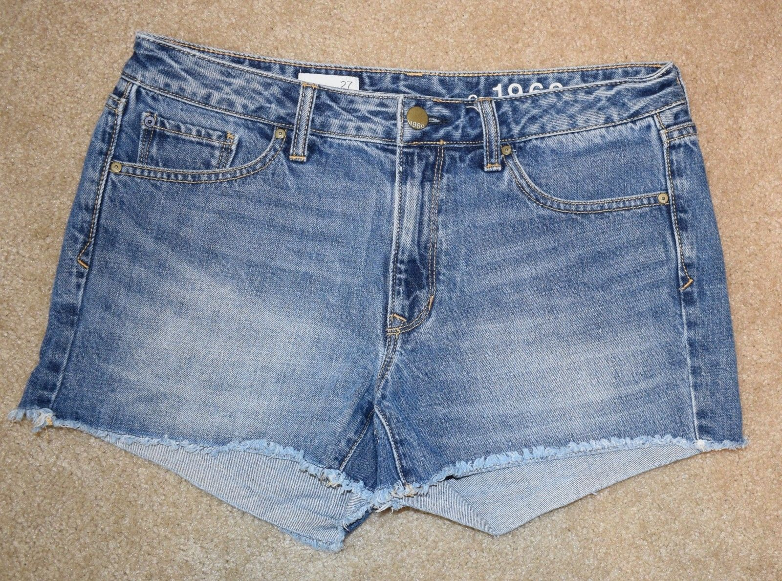 Gap Jean Shorts 27 Fringe Slim Cut Offs 4