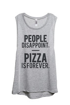 Thread Tank Pizza Is Forever Women's Sleeveless Muscle Tank Top Tee Spor... - $24.99+